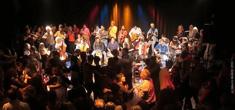Foto von einem Auftritt im Sudhaus Tübingen 2016